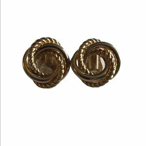 Vintage Clip-on Earrings Gold Knot